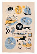 Geschirrtuch Seasalt Ships Cat & First, Katze, Ulster Weavers, Küchenhandtuch