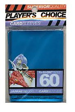 Players Choice 60 Count Mettalic Blue Yugioh Small Deck Protector Card Sleeves