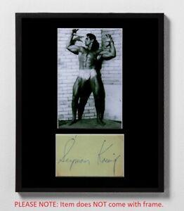 Seymour Koenig Matted Autograph & Photo! Wrestler! Bodybuilder! Muscle Beach!