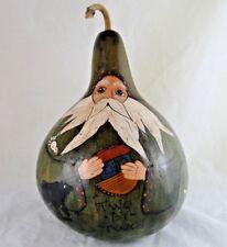 Noah's Ark Hand Painted Gourd Birdhouse Garden Yard Art Decor Stained Sealed NEW