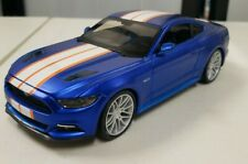 Maisto 2015 Ford Mustang GT 1/24 Scale Diecast Car Blue Orange Rare Color Scheme