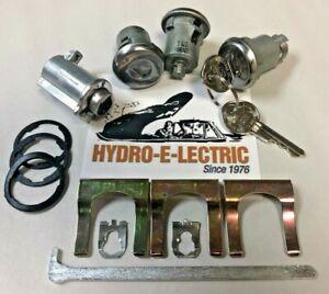 NEW 1967 Buick Special/Skylark- Door & Trunk Lock set + Keyless Glove Box Latch