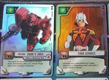 Gundam War Card Lot Char Aznable and Char's Zaku Gundam Card Game CCG Bandai