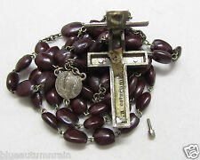"""† VINTAGE """"OUR LADY DE BANNEUX"""" RELIC RELIQUARY CRUCIFIX SPINA CHRISTI ROSARY †"""