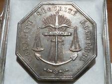 CIR12(299) - BORDEAUX - JETON ARGENT - LA SAUVEGARDE - 1842 - POINCON !