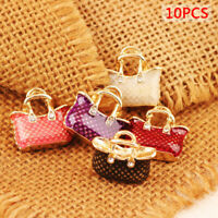 10PCS Enamel Alloy Bag Handbag Charms Pendants DIY Jewelry Findings CraftsBLUS