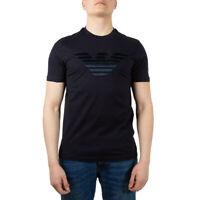 Emporio Armani T-Shirt Girocollo Cotone Uomo Blu NUOVA COLLEZIONE S/S 20  -15%