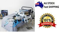 SINGLE BED BATMAN KIDS LICENSED QUILT DOONA COVER SET + PILLOWCASE