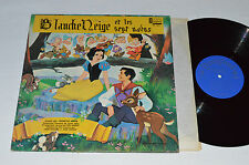BLANCHE NEIGE ET LES SEPT NAINS French Walt Disney Album LP SNOW WHITE 7 DWARFS