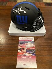 Daniel Jones Autographed New York Giants Eclipse Mini Helmet Witness JSA #3