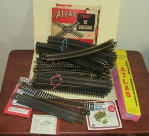 87+ pcs Lot ho scale ATLAS Brass SNAP TRACK SECTIONS for Model Train Layouts