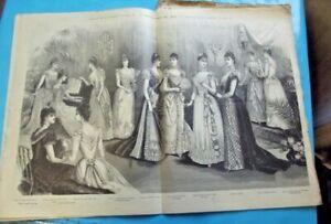 Ancienne Revue de Mode Illustrée 1890 N°51 Costume marin Mixte enfants veste