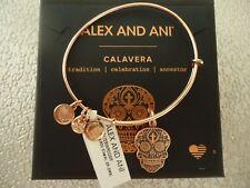 Alex and Ani CALAVERA Rose Gold Charm Bangle New W/Tag Card & Box