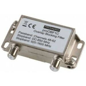 TV Aerial Signal Interference Overlap Bandpass Filter Channels 48-60 - 100577