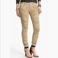 FREE PEOPLE Camo Destroyed Skinny Castro Jeans