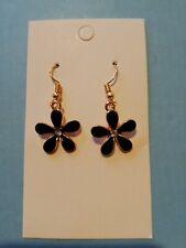 Black flower handmade Earrings Jewellery Gift
