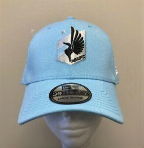 Minnesota United FC MNUFC New Era 39THIRTY Flex Hat Light Blue Size L/XL NEW