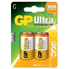 2 X GP Ultra Alkaline Lr14 Size C Batteries