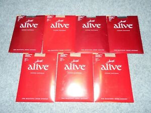 7 NEW! HANES ALIVE FULL SUPPORT SIZE B CONTROL TOP PANTYHOSE LOT             J2