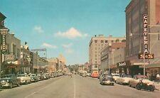 Cherry Street Looking North in Macon GA Postcard