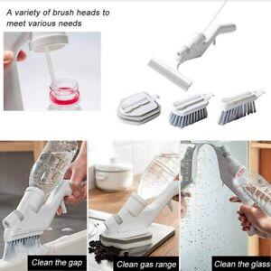 4pcs Kitchen Automatic Liquid Filling Brush Cleaning Set Sprayable Bathroom