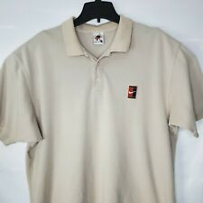 Vintage Nike Challenge Court Tennis Agassi Polo Shirt Sz Xl Tan / Beige / Cream