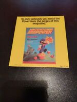 To Play Seriously You Need The Yellow Nintendo Power Ad Insert NES video games