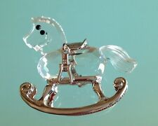 Swarovski Kristall Vitrine Figur Miniatur Schaukelpferd rar selten NEU