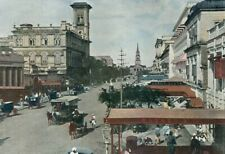 India, Calcutta, Clive street..Antique photochrom,late 19th C