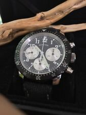Chronograph mechanische Automatik Uhr Saphirglas  Handaufzug  Carvan/ Leder Band