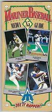 1985 Seattle Mariners Baseball Media Guide MARK LANGSTON Alvin Davis HENDERSON