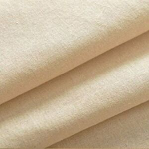 """Cotton Calico Canvas Natural Black White New off the roll Fabric Material 58"""""""