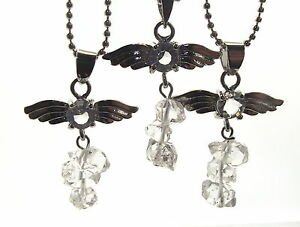 Guardian Angel Inspired Herkimer Diamond Gemstone Crystal Pendant