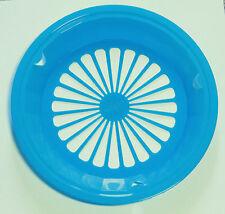 4 LT. BLUE PLASTIC PAPER PLATE HOLDERS, PICNICS, BBQ, CAMPING, PARTIES
