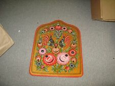 "Eastern European Hand painted painting on wood Folk Art Russian Polish 22"" x 16"""