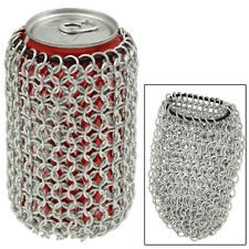Medieval Renaissance Middle Age Armor Style Chainmail Soda Beer Can Koozie Bag