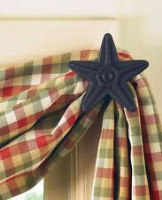 Black Star Cast Iron Curtain Hook Set by Park Designs - Curtain Hooks