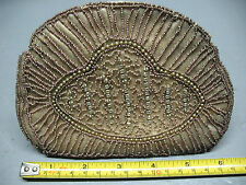 COSMETIC PURSE  MICRO BEADS / DIAMONDS   BRONZED VINTAGE
