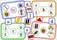 Alphabet initial sound bingo games on CD -teaching resource- phonics, letters