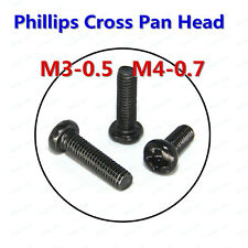 M3 M4 Black Oxide Phillips Cross Pan Head Round head Machine Screws Bolts