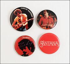 Santana Lot Of 4 Original 80's Buttons Pins Badges Zebop