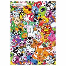 2 Sheets Moshi Monsters Wrapping Paper Gift Wrap Childrens Girl Boy Present Wrap
