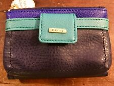 RELIC Kenna Wallet NAVY with ELECTRIC BLUE & TURQUOISE STRIPES  New!