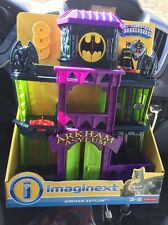 Fisher price Imaginext Arkham Asylum Dc Super Friends Batman Set Jail Gotham NEW