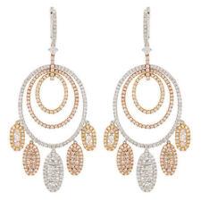 Orecchini di lusso pendente in oro bianco