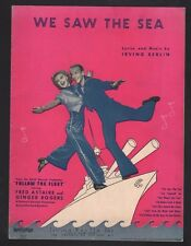 We Saw The Sea 1936 Follow The Fleet Fred Astaire Ginger Rogers Sheet Music