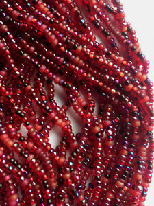 Czech 8/0 Seed Beads Metallic Stripes Picasso Rare Mixes
