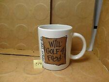 Will Golf 4 Food Coffee Mug, Split Tee (Used/EUC)