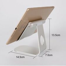 """Tablet Stand Desktop Holder Mount For iPad Pro 12.9"""" 11""""  iPhone Grey Silver"""