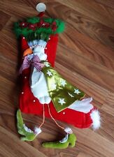 """Patience Brewster Dove Stocking Retired Full Size 22"""" Christmas Krinkles New"""
